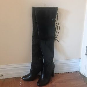 Leather Thigh high over the knee boots
